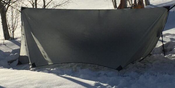 a hammock tarp for winter camping.