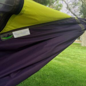 close up a hammock fabric