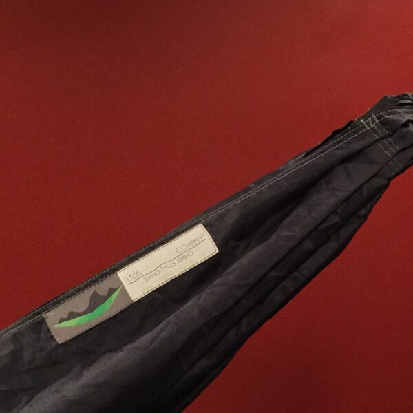 Close up of a black Hammock