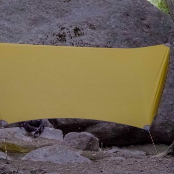 yellow hammock tarp