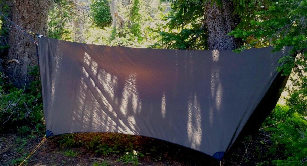 a hammock tarp setup